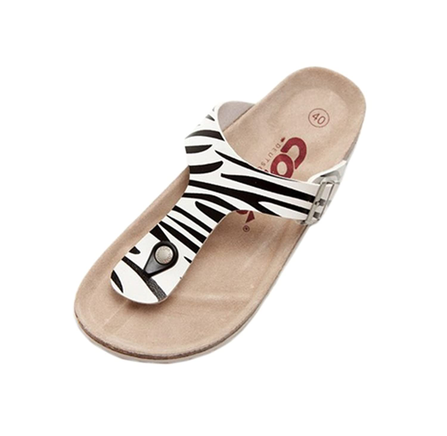 Wantmore Men's Round Toe Simple Beach Sandals