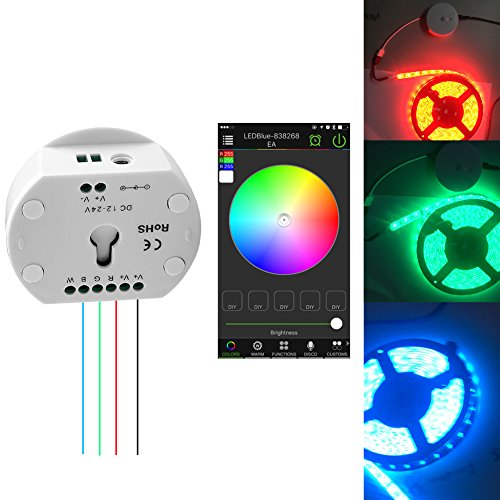 SIENOC DC12-24V Wireless Bluetooth RGB RGBW LED Strip Controller by SIENOC