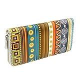 CHIC DIARY Women Wallet PU Leather Long Clutch Purse with Zipper Closure (#Geometrical pattern)