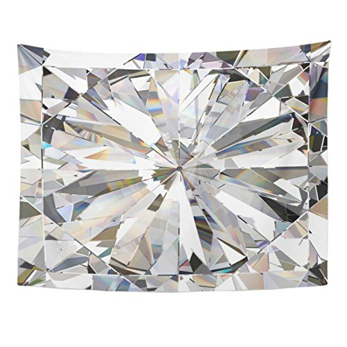 TOMPOP Tapestry Blue Crystal Realistic Diamond Caustic 3D Abstract Bling Light Home Decor Wall Hanging for Living Room Bedroom Dorm 60x80 Inches