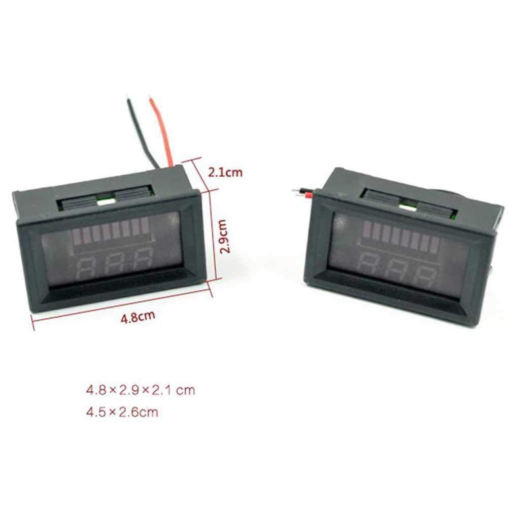 ARCELI Car Marine Motorcycle LED Digital Voltmeter Voltage Meter Battery Gauge 12V-60V(red)