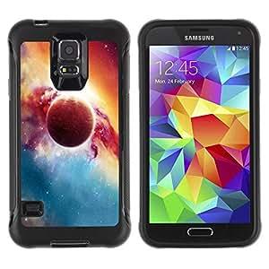 Suave TPU Caso Carcasa de Caucho Funda para Samsung Galaxy S5 SM-G900 / Red Planet Explosion Galaxy Universe Art / STRONG