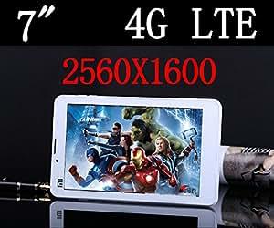 ARBUYSHOP Octa Core 6 pulgadas de Tablet PC 4G LTE Android 5.0 teléfono móvil 3G Sim Card Slot Cámara PC 4GB de RAM 13.0MP IPS 2560X1600 GPS 89 10, White 16G versión, estándar de fábrica