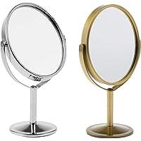 Flameer Lotes 2 Bancada Lateral Dupla 360 ° Giratória Maquiagem Lupa Espelho De Barbear