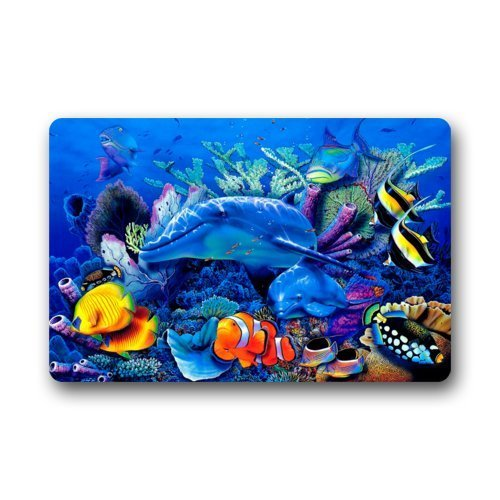 Dearhouse Fantastic Doormat Colorful Underwater World