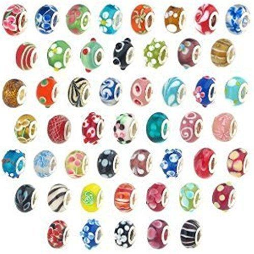 100pcs Lampwork European Compatible Bracelets product image