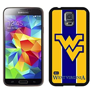 Beautiful Designed With NCAA Big 12 Conference Big12 Football West Virginia Mountaineers 2 Protective Cell Phone Hardshell Cover Case For Samsung Galaxy S5 I9600 G900a G900v G900p G900t G900w Phone Case Black