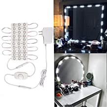 Lighted Makeup Mirror LED Light Kit for Cosmetic Mirror, Natural White Lights + Dimmer Controller+ Power Supply (Mirror NOT Included)
