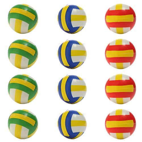MiniSportsPressureBall Foam Mini VolleyballforRelease Pressure and Kids PartyFavors Set of 12