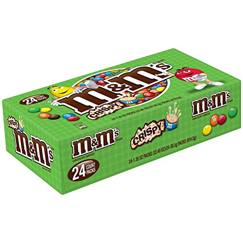 M&M's Crispy Chocolate Candy 1.35-Ounce Pouch 24-Count Box]()