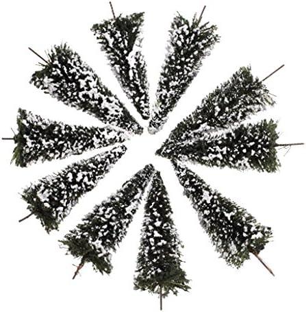 T TOOYFUL 1/150スケール 杉の木 模型 雪の木 モデルツリー ジオラマ 鉄道風景 景観モデル 小道具 10個