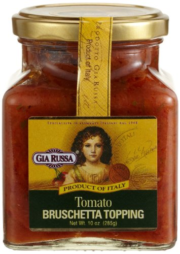 Gia Russa Tomato Bruschetta Topping, 10-Ounce Glass Jars (Pack of (Tomato Bruschetta Topping)