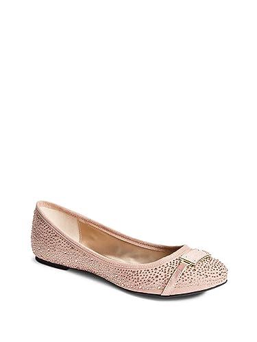 9e2647e6 Amazon.com | GUESS Factory Women's Genna Logo Flats Blush Multi | Flats