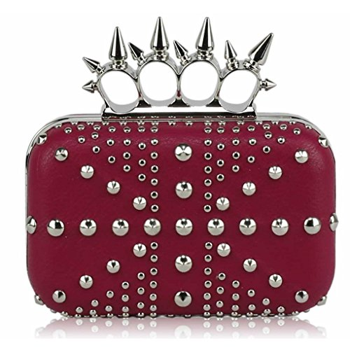 Clutch For Wedding PINK CLUTCH Evening LeahWard Studded Diamante Purse Jack Crown Handbags Prom Women's Union STUDDED 4q1TY