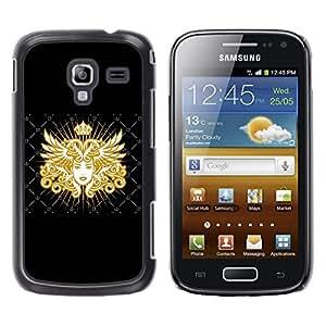 TECHCASE**Cubierta de la caja de protección la piel dura para el ** Samsung Galaxy Ace 2 I8160 Ace II X S7560M ** Goddess Golden Queen Art Royal Woman