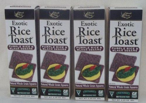 - Exotic Rice Toast, Purple Rice & Black Sesame, 2.25 oz (65 g)