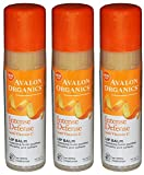 Avalon Organics Intense Defense with Vitamin C Lip Balm Pack of 3