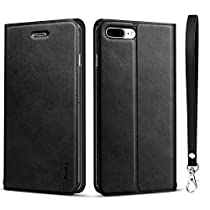 iphone8 ケース iphone7ケース 手帳型 [カード収納 スタンド機能] ...