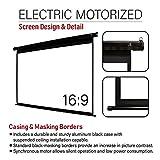 Akia Screens 110 inch Motorized Electric Remote