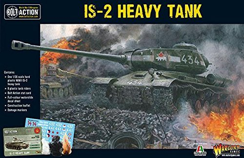 Bolt Action is-2 Heavy Tank 1:56 WWII Military Wargaming Plastic Model Kit