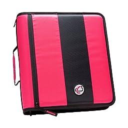 Case-it 2-Inch Ring Zipper Binder, Neon Pink (D-251-NeoPnk)