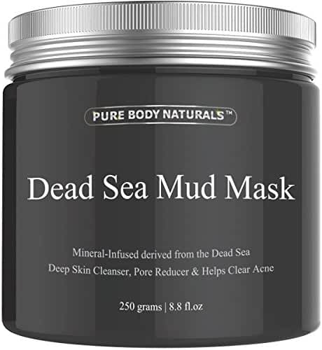 Pure Body Naturals Beauty Dead Sea Mud Mask for Facial Treatment - Large Size (Better Value) 16 fl.oz.