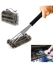 BBQ Grill Brushes, 100% Rust-Proof High-Nickel 304 Stainless Stee,Universal and Perfectly Angled, for All Stainless Steel, Ceramic,Iron & Porcelain Barbecue Grates