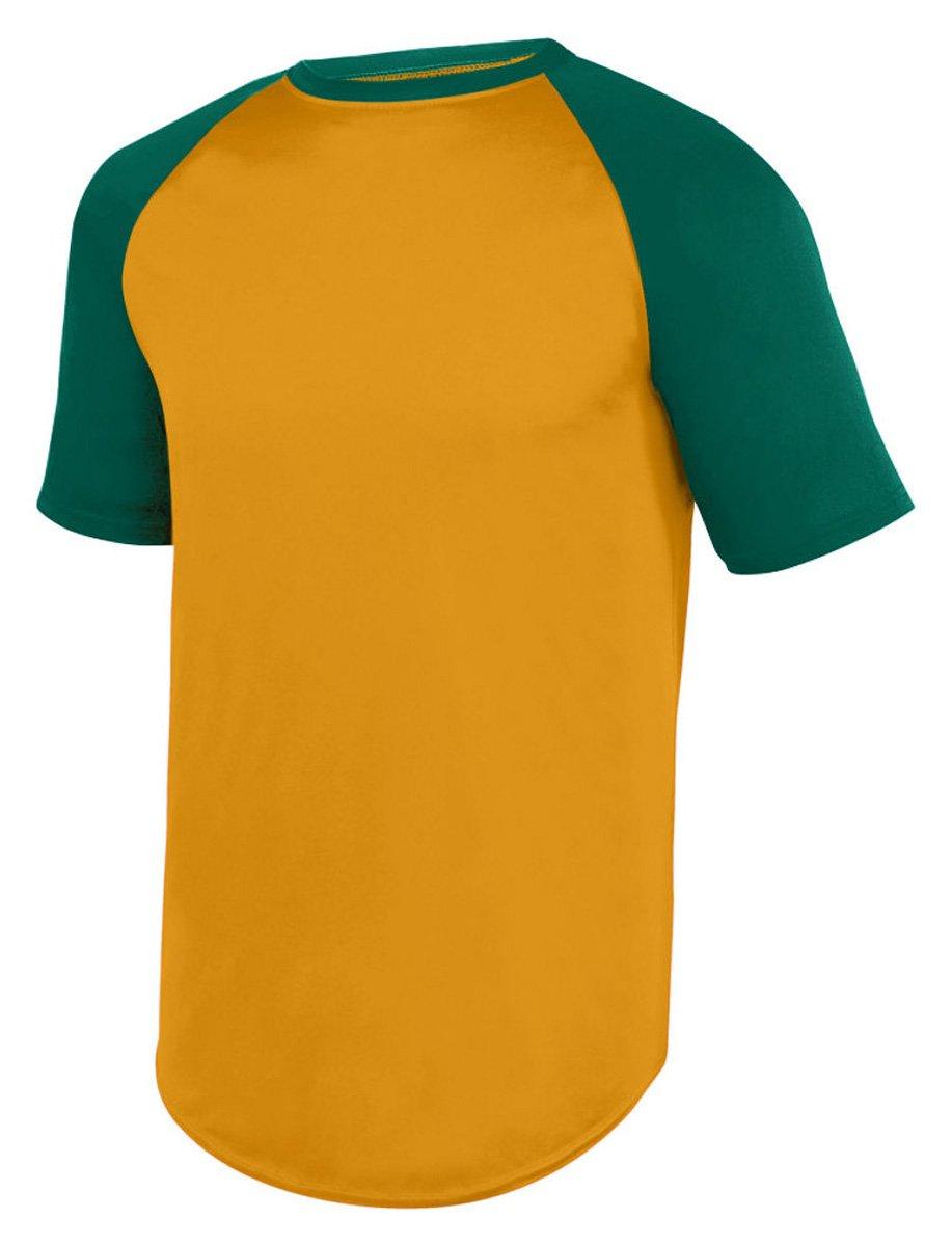 Augusta SportswearメンズWicking半袖野球ジャージー B01MAVUUYZ Medium|Gold/Dark Green Gold/Dark Green Medium