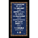 MLB Seattle Mariners Subway Sign Wall Art with Authentic Dirt from Safeco Field, 9.5x19-Inch