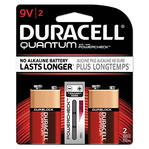 ** Quantum Alkaline Batteries with Duralock Power Preserve Technology, 9V, 2/Pk by Reg