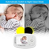 Video Baby Monitor with HD Camera Infrared Night Vision Two-way Talk Back System for Baby Security Including Corner Shelf