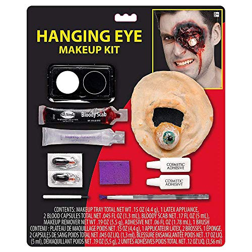 Zipper Halloween Makeup Look (Hallo Makeup Special Effects Makeup for Halloween Costumes and Parties; Hanging Eyeball Makeup)