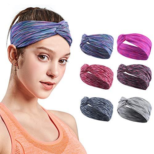 VBIGER Damen Stirnband Haarband Kopfband Elastische Sportliche Headband für Joggen Yoga Gym Fitness Training…