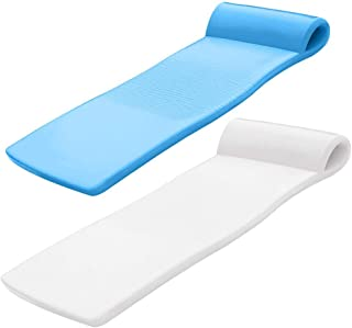product image for TRC Recreation Sunsation Foam Raft Lounger Pool Floats, Bahama Blue & White