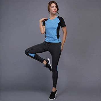 CYJJJK Pantalones de Yoga 2 Unidades Mujer Yoga Set Ropa de ...