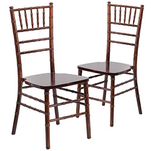 Flash Furniture 2 Pk. HERCULES Series Fruitwood Chiavari Chair