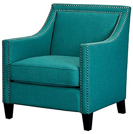 Amazon.com: Hebel Erica Chair with Chrome Nailhead Trim ...