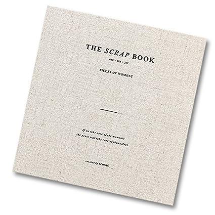 """Iconic, quaderno per schizzi e ricordi, con scritta in inglese sulla copertina """"Pieces of Moment"""" (pezzi di momento), semplice, rilegatura a spirale, 80 pagine di carta, tasca e adesivi Khaki Gray tasca e adesivi Khaki Gray"""