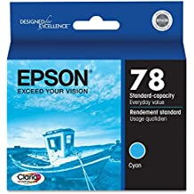 "Epson Corporation - Epson Cyan Ink Cartridge - Cyan - Inkjet - 430 Page - 1 Each ""Product Category: Print Supplies/Ink/Toner Cartridges"""