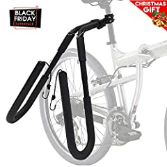 Safely and easily transport your surfboard to the beach with your own bike surfboard rack! It's as easy as taking your board off the Surfboard wall rack in your garage and putting it on your bike. This Bike board carrier attaches to your seat...