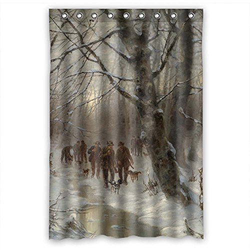 [NASAZONE Width X Height / 48 X 72 Inches / W H 120 By 180 Cm Beautiful Scenery Landscape Painting Christmas Shower Drape Polyester Fabric Ornament And Gift To Kids Mother Mother Kids Girl Girls.] (Costumes Halloween Yahoo)