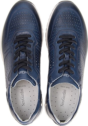 Estate Primavera Sneakers Antracite Blu Scarpe Oceano Oceano o Grigio Uomo P800231U Pelle in Giardini 2018 Nero SHxqwO7T