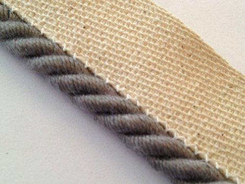 Instabind Rope Edge Style Carpet Binding (Grey)