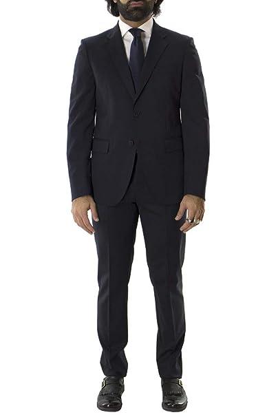 Brian Dales Abito da Uomo Invernale Elegante in Misto Lana vestibilità Slim  Fit Modello Monopetto Giacca Due Botttoni Tinta Unita Made in I  Amazon.it   ... 7517a1a3045