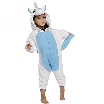 Ferrand Kigurumi Pijamas Unisexo Disfraz Animal Costume Unicornio Azul Para Niños