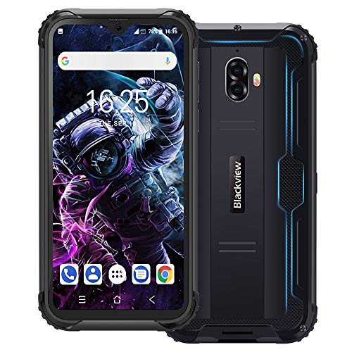 Blackview BV5900 IP69K Outdoor Smartphone Ohne Vertrag 5,7 Zoll HD+ Waterdrop Display Android 9.0 13MP+5MP Kameras…