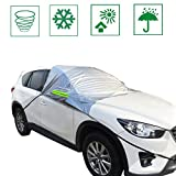 IZTOR Premium Windshield Snow Cover Sizes for ALL Vehicles - Covers Wipers - Snow, Ice, Frost Guard No More Scraping for kids pets family COVERS WINDSHIELD WINDOWS and mirrors for any vehicle