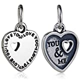 Best Dangle Charms Of Hearts - YOU & ME Dangle Charm 925 Sterling Silver Review