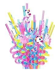 DreamJing 20 Stks Eenhoorn Drinkrietjes, Herbruikbare Nieuwigheid Crazy Party Stro Kids Verjaardag Feestartikelen (Eenhoorn)