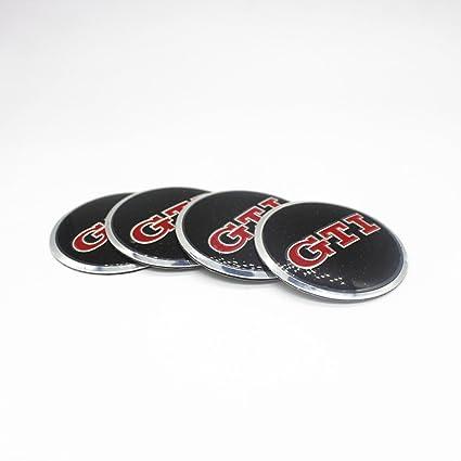 Amazon.com: New 4pc GTI Car Wheel Center Hub Caps Cover Rim Sticker Badge Styling For VW Golf 6 7 Passat CC Polo Tiguan Touran Lamando: Automotive